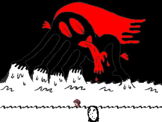 Yume Nikki Uboa's Trap World and Bloody Touching Monster