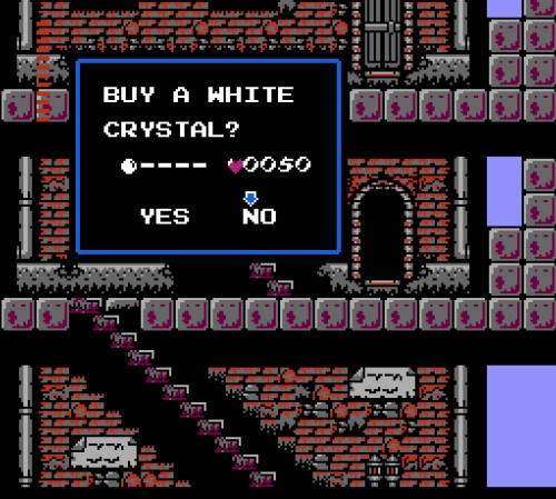 Castlevania II: Simon's Quest gameplay