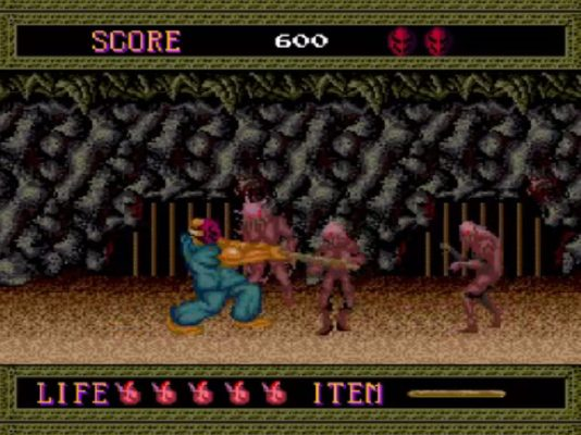 Splatterhouse turbografx-16 gameplay