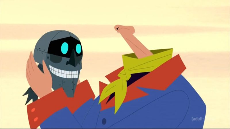 Samurai Jack season 5 Scaramouche head and penis head alien