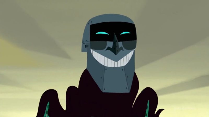 Samurai Jack season 5 Scaramouche head on octopus
