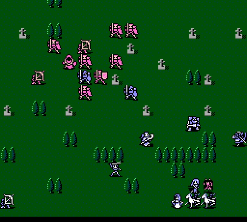 Fire Emblem Gaiden Famicom gameplay