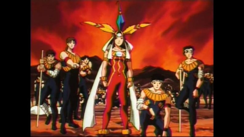 Nazca anime Bilka and Inca warriors