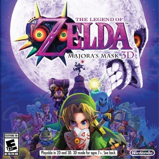 The Legend of Zelda: Majora's Mask 3D game cover art