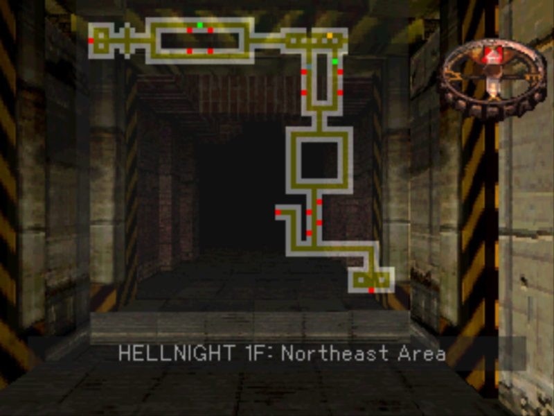 Hellnight PS1 gameplay
