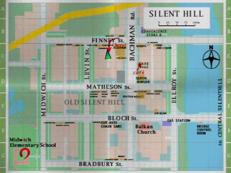 Silent Hill PS1 Old Silent Hill map