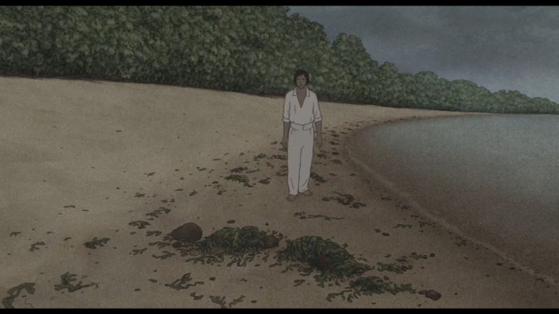 The Red Turtle (La Tortue Rouge) shipwrecked man