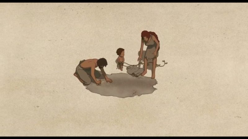 The Red Turtle (La Tortue Rouge) shipwrecked man, red-haired woman and son