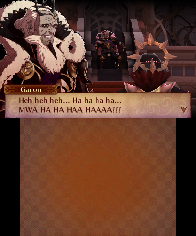 Fire Emblem Fates: Conquest Garon evil laugh