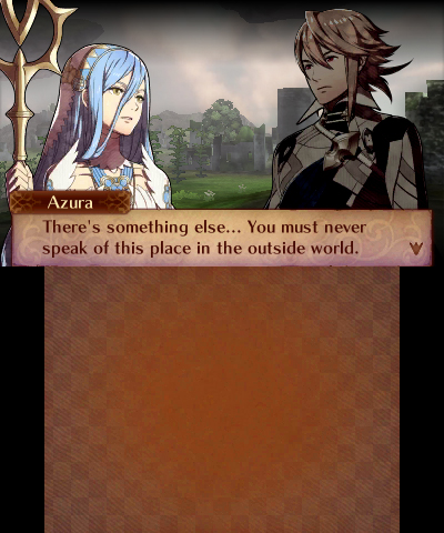 Fire Emblem Fates: Conquest Corrin and Azura in Valla