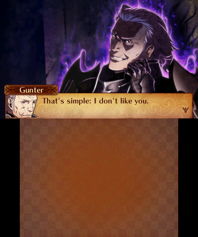 Fire Emblem Fates: Revelation possessed Gunter