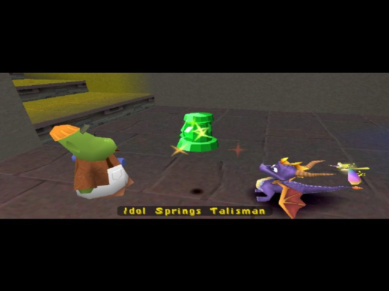 Spyro 2: Ripto's Rage (Gateway to Glimmer) Idol Springs talisman