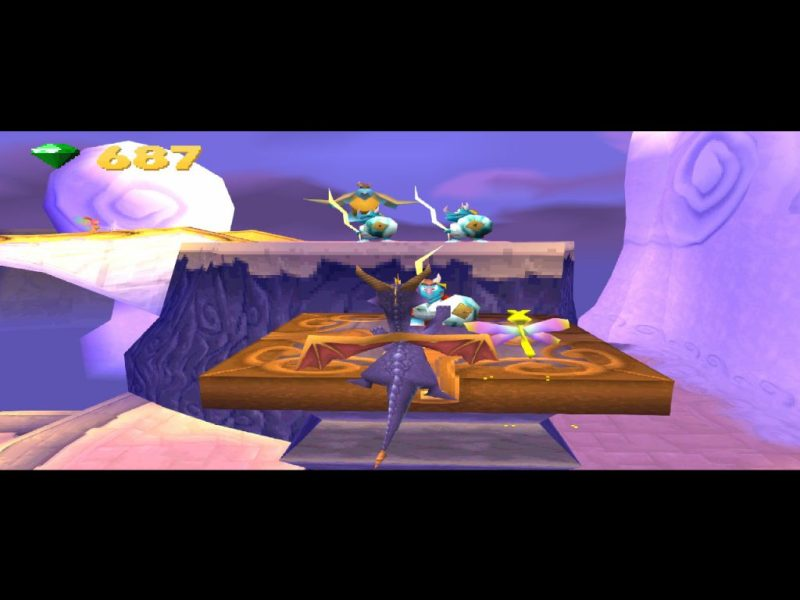 Spyro: Year of the Dragon PS1 gameplay Cloud Spires