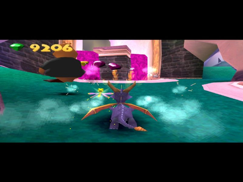 Spyro: Year of the Dragon PS1 Midnight Mountain torch Moneybags