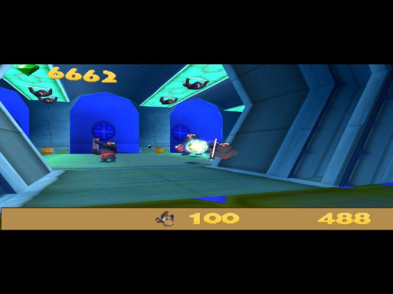 Spyro: Year of the Dragon PS1 gameplay Fireworks Factory Agent 9 first-person shooter