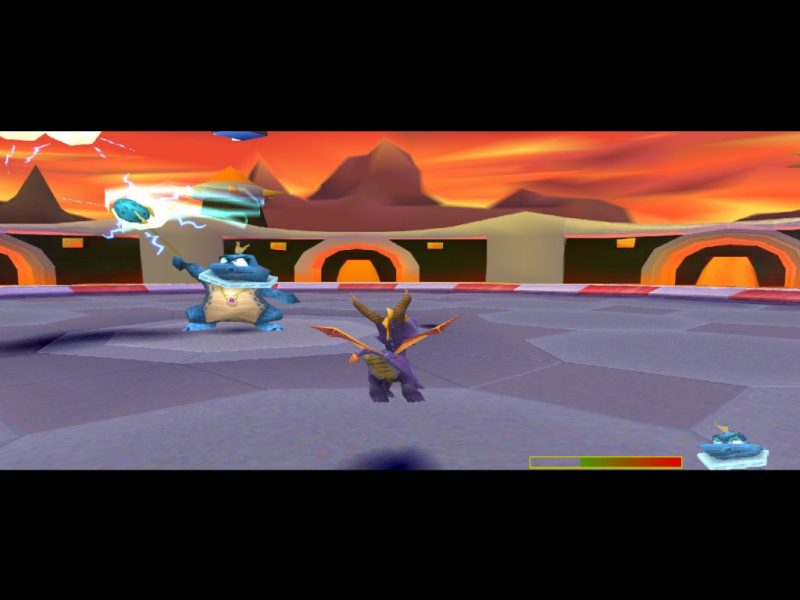 Spyro: Year of the Dragon PS1 gameplay Sorceress's Lair