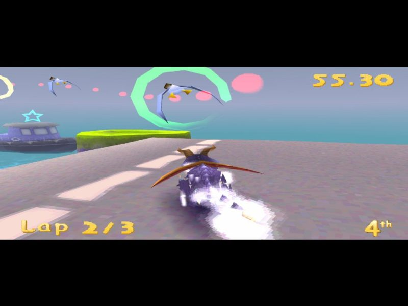 Spyro: Year of the Dragon PS1 gameplay Harbor Speedway race