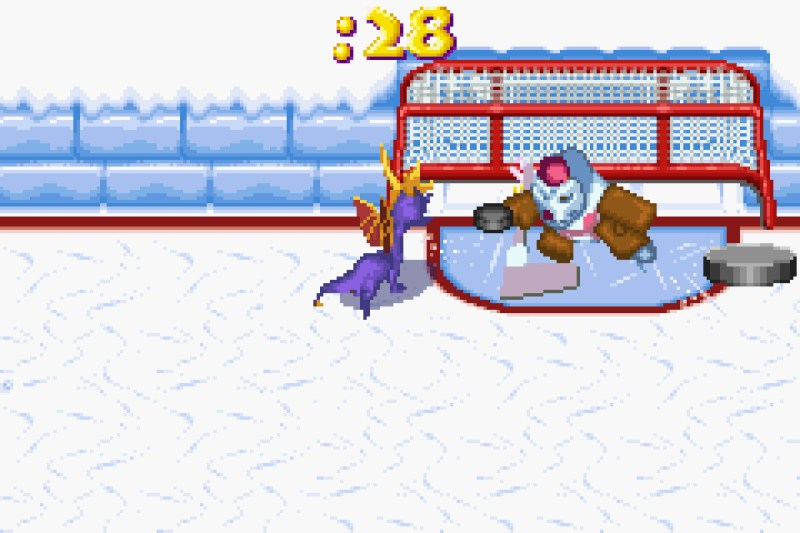 Spyro 2: Season of Flame gameplay Winter Mesa hockey