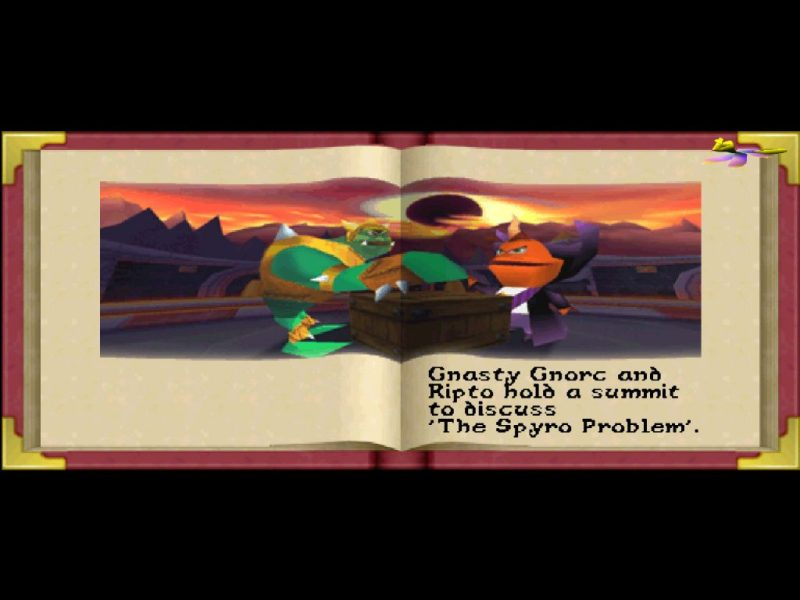 Spyro: Year of the Dragon PS1 epilogue Gnasty Gnorc and Ripto