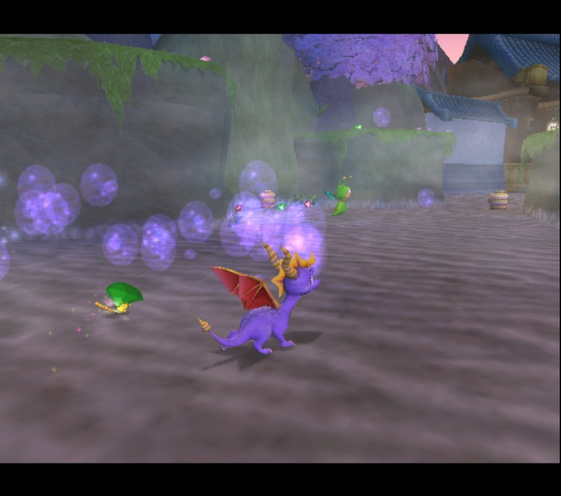 Spyro: Enter the Dragonfly gameplay Dragonfly Dojo bubble breath
