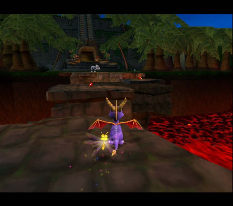 Spyro: Enter the Dragonfly gameplay Jurassic Jungle