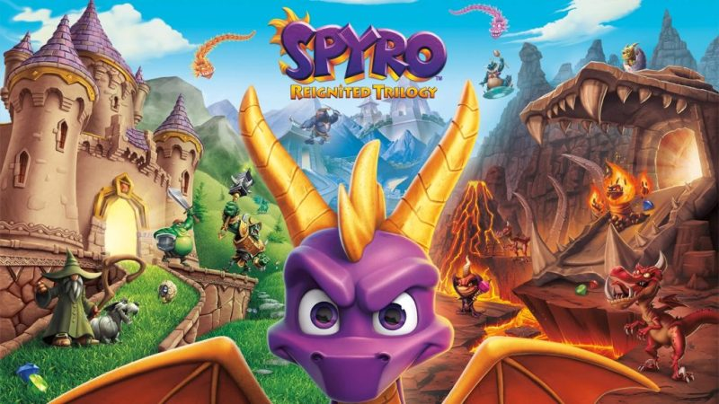 Spyro Reignited Trilogy game cover art