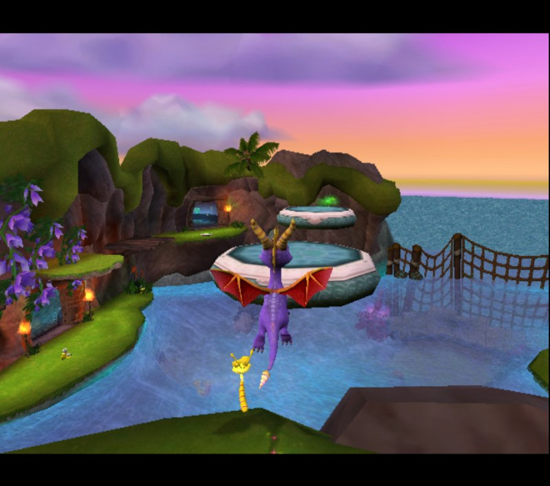 Spyro: Enter the Dragonfly gameplay Luau Island