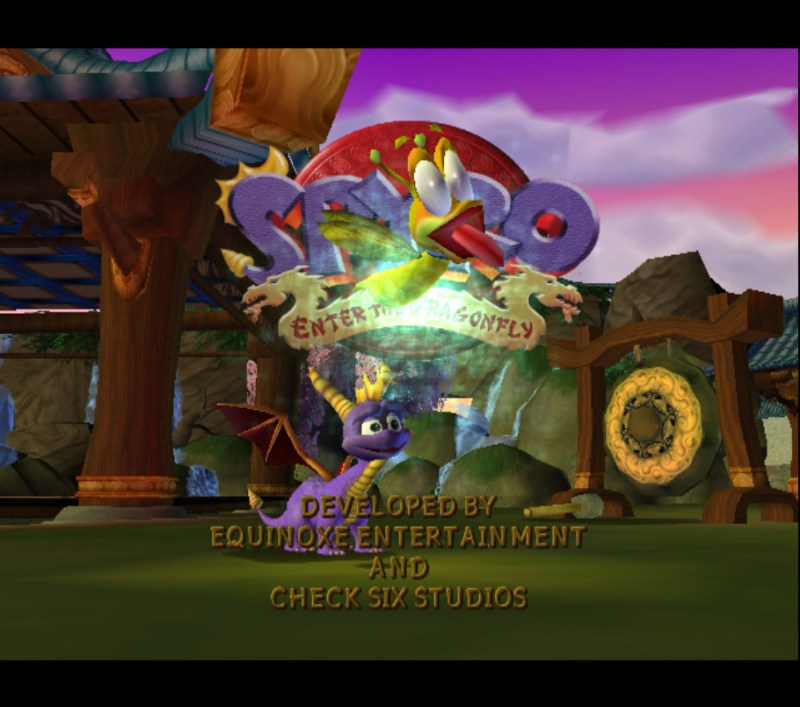 Spyro: Enter the Dragonfly credits Sparx with no pupils