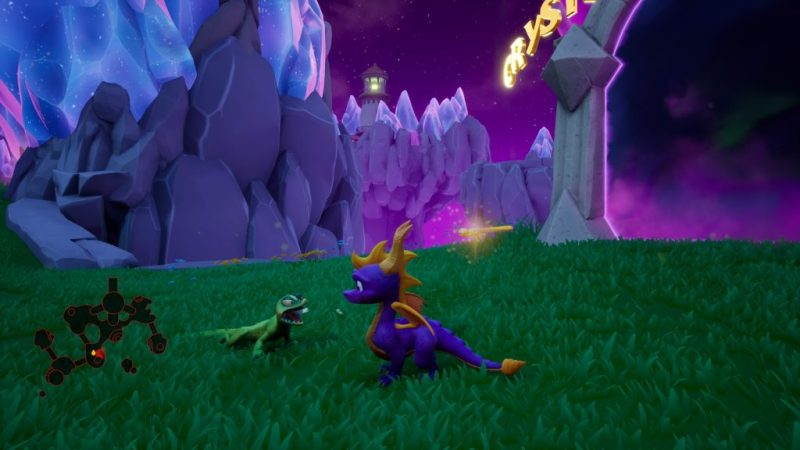 Spyro Reignited Trilogy (Year of the Dragon) Midnight Mountain lizard hissing