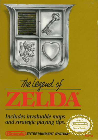 The Legend of Zelda 1 NES box cover art
