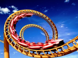 exciting roller coaster ride modeling life
