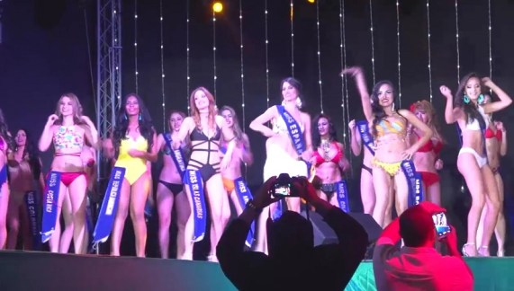Beauty pageant group dance performance modeling life