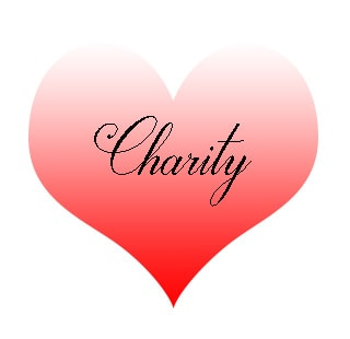 Charity heart cartoon logo non-profit