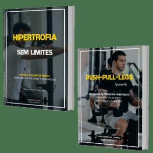 Pacote que engloba os programas e manuais de treino Hipertrofia Sem Limites e Push-Pull-Legs