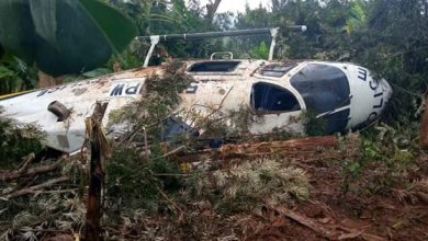 Photo of PHOTOS: Police Chopper Crashes in Meru County