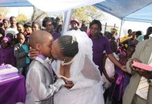 Photo of 9 Year Old Boy Marries A 62 Year Old Woman In A Colourful Wedding