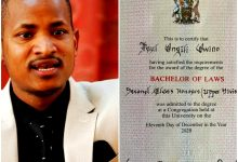 Photo of Babu Owino Flaunts His First Class Honours Degree Certificates On Social Media