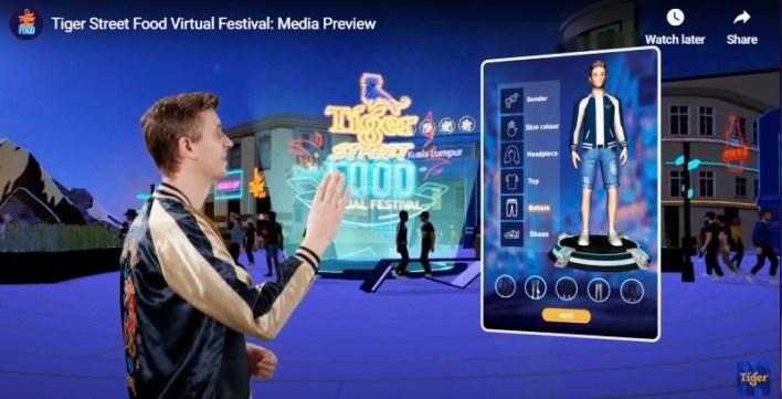 创造个人虚拟人物用户可以通过创造个人的虚拟人物形象,随心所欲地在Tiger Street Food虚拟美食节闲逛,与其他用户交流、玩游戏或进入商贩的空间。之后,用户可以通过街头美食节的官方配送合作伙伴Delivereat 下单点餐。
