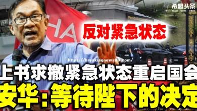 Photo of 已有足够支持拒绝紧急状态  安华:等待陛下的决定