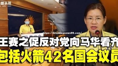 Photo of 王赛之促反对党向马华看齐 包括行动党42名国会议员