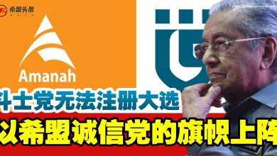 Photo of 斗士党无法注册大选 马哈迪:将以希盟诚信党的旗帜上阵