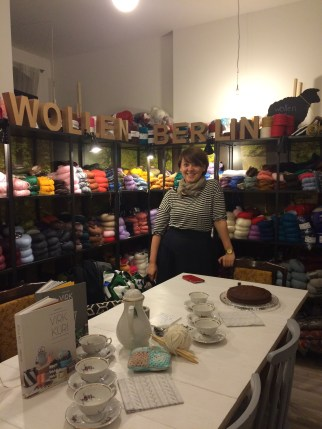Our lovely host Ruta, the owner of Wollen Berlin.