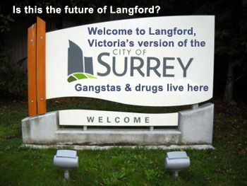Langford-Surrey Sign