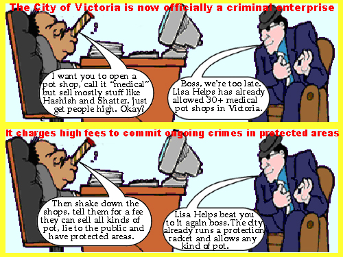City of Victoria runs a criminal enterprise