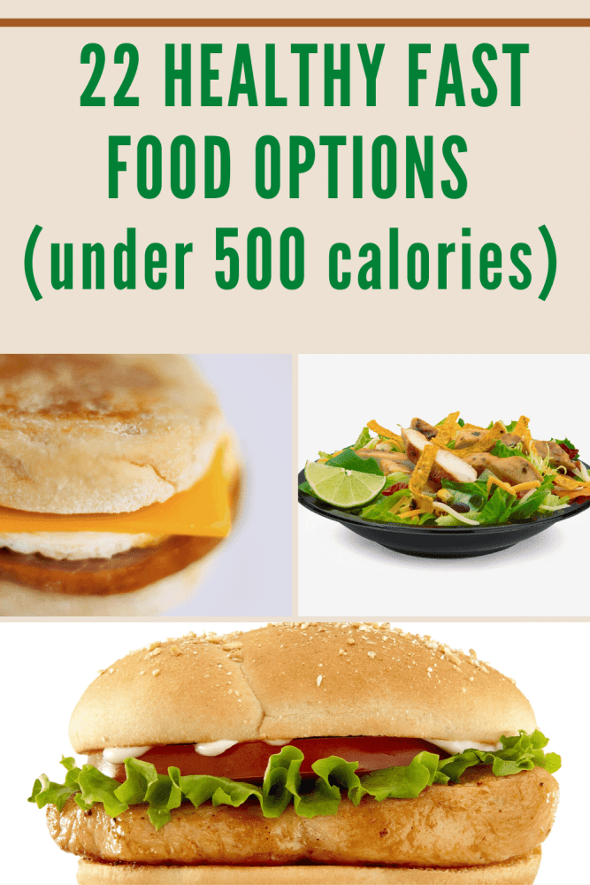 Healthy Fast Food Options Pin| Break Out of Burnout