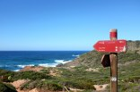 Un chemin qui mène à la plage Cala Pilar de Minorque