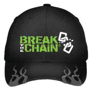 Break the Chain 3D Embroidery Flames Hat