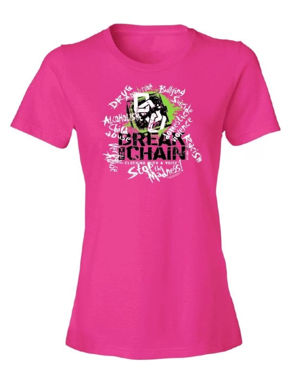 Break the Chain's Logo Pink T-Shirt