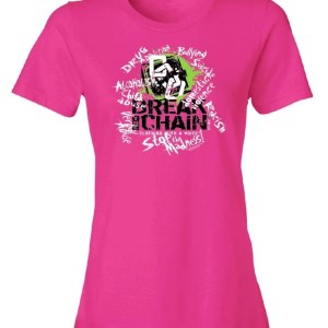 Break the Chain's Logo Pink T-Shirt