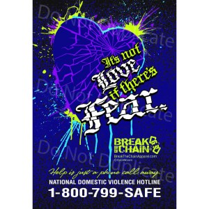 Break the Chain's It's Not Love if There's Fear Poster